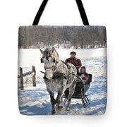 Family Sleigh Ride Tote Bag