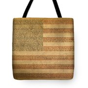 Famous Patriotic Quotes American Flag Word Art Tote Bag by Design Turnpike