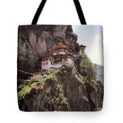 Famous Tigers Nest Monastery Of Bhutan 12 Tote Bag