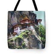 Famous Tigers Nest Monastery Of Bhutan 7 Tote Bag