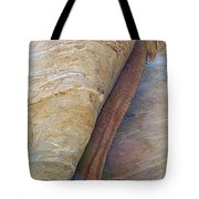 Fan Palm Forced Into A Slant By Rock In Andreas Canyon-ca Tote Bag