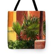 Fan Palm On Patio Tote Bag