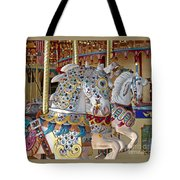 Fanciful Carousel Ponies Tote Bag