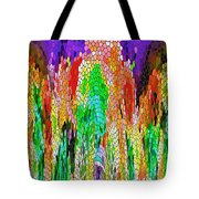 Fanciful Colors  Abstract Mosaic Tote Bag