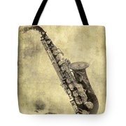 Fancy Antique Saxophone In Pastel Tote Bag