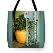 Fancy Gate And Plain Pot Tote Bag
