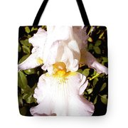 Fancy Lady White Iris Tote Bag