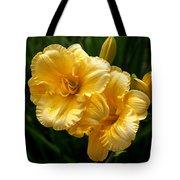 Fancy Yellow Daylilies Tote Bag
