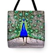 Fanning Peacock Tote Bag