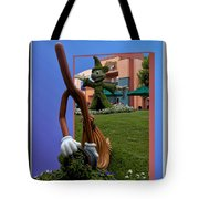 Fantasia Mickey And Broom Floral Walt Disney World Hollywood Studios Tote Bag