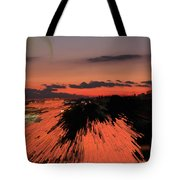 Fantastic Space Sunset Tote Bag