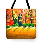 Fantasy Art - The Village Festival Tote Bag