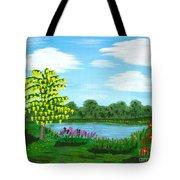 Fantasy Backyard Tote Bag