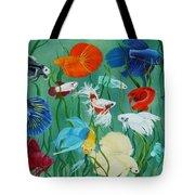 Fantasy Bettas Tote Bag by Debbie LaFrance