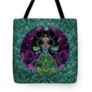 Fantasy Cat Fairy Lady On A Date With Yoda. Tote Bag