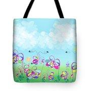 Fantasy Flower Garden - Childrens Digital Art Tote Bag