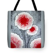 Fantasy Flowers In Red No 1 Tote Bag