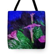 Fantasy Flowers Watercolor 2 Hp Tote Bag