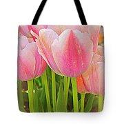 Fantasy In Pink - Tulips Tote Bag