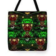 Fantasy Leather Heads In A Scenery Tote Bag