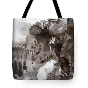 Fantasy Ski Run Tote Bag