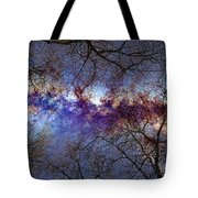Fantasy Stars Milkyway Through The Trees Tote Bag