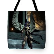 Fantasy Winged Female Warrior Tote Bag