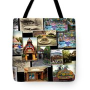 Fantasyland Disneyland Collage Tote Bag