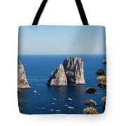 Faraglioni In Capri Tote Bag