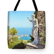 Faraglioni Rocks From Mt Solaro Capri Tote Bag