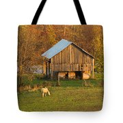 Farm At Sunrise Tote Bag