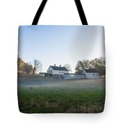 Farm At Valley Forge In Morning Tote Bag