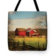Farm - Barn - Just Up The Path Tote Bag