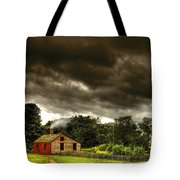 Farm - Barn - Storms A Comin Tote Bag