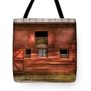 Farm - Barn - Visiting The Farm Tote Bag by Mike Savad