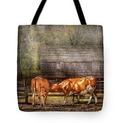 Farm - Cow - A Couple Of Cows Tote Bag
