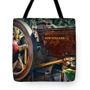 Farm Equipment - New Holland Feed And Cob Mill Tote Bag by Paul Ward