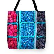 Farm Fresh Berries - Raspberries Blueberries Blackberies Tote Bag