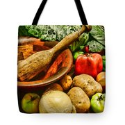 Farm Fresh Food In A Country Kitchen Tote Bag