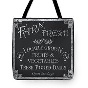 Farm Fresh Sign Tote Bag