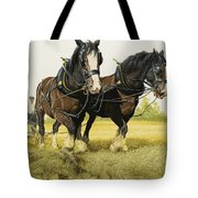 Farm Horses Tote Bag