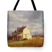 Farm House And Landscape Tote Bag