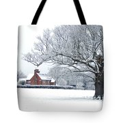 Farm House And Oak Tree Tote Bag