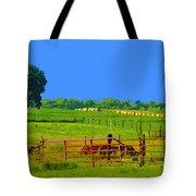 Farm Photo Digital Paint Style Tote Bag