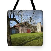 Farm Scene With Barns And Silo Tote Bag