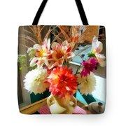 Farm Table Bouquet Tote Bag