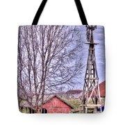Farm - Windmill - Red Barn Farm - Missouri Tote Bag