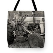 Farmer And His Tractor Tote Bag