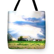 Farmer's Field At Sundown Tote Bag