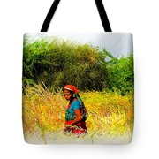 Farmers Fields Harvest India Rajasthan 2a Tote Bag